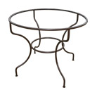 Pied de table Simple Rond en fer forgé