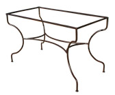 Pied de table Simple rectangulaire cintré en fer forgé