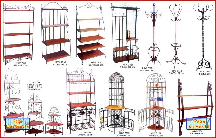 fer et bois bi 5 etag res bar portes manteaux fer forg et palissandre sheesham. Black Bedroom Furniture Sets. Home Design Ideas