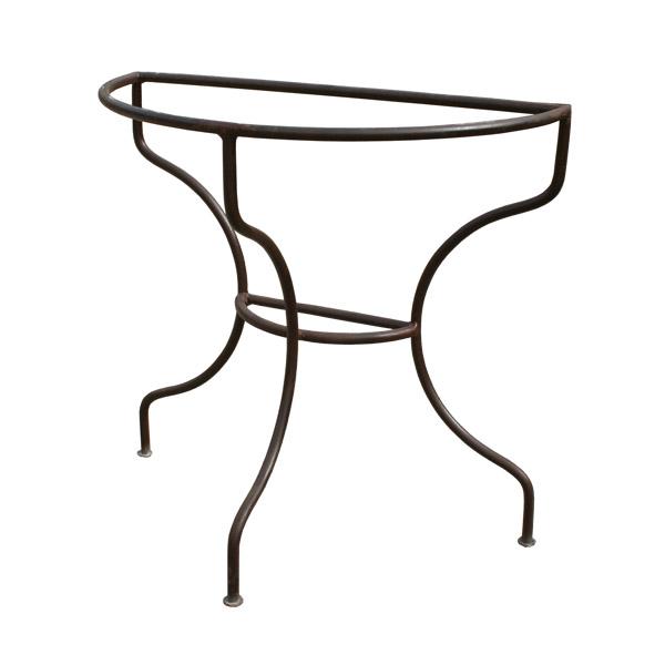 pied de console demi cercle en fer forg simple. Black Bedroom Furniture Sets. Home Design Ideas