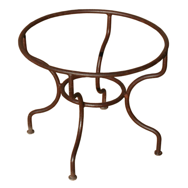 Pied de table basse rond en fer forg simple for Table basse bois fer forge
