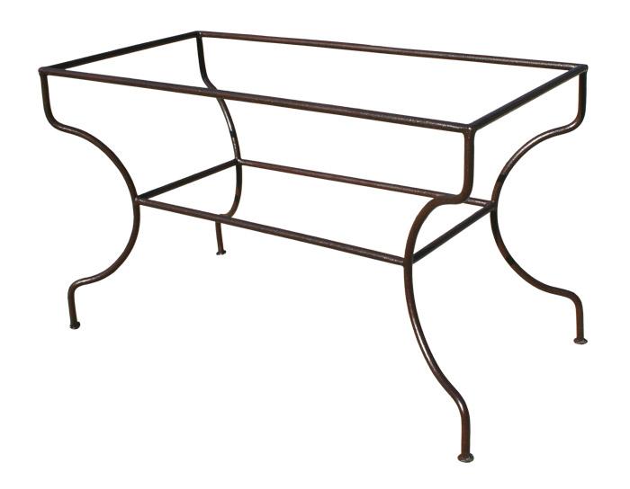 pied en fer forg rectangulaire simple. Black Bedroom Furniture Sets. Home Design Ideas