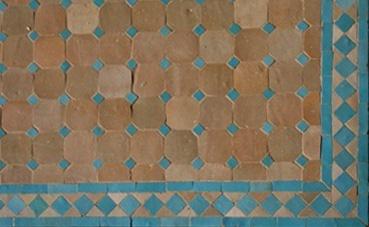 Plateau de table en zellige combinaison de couleurs de base for Zellige marocain salle de bain