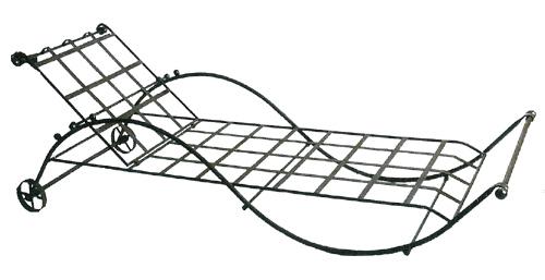 fauteuils bain de soleil en fer forg. Black Bedroom Furniture Sets. Home Design Ideas