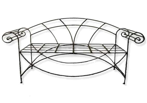 banquette romaine en fer forg. Black Bedroom Furniture Sets. Home Design Ideas