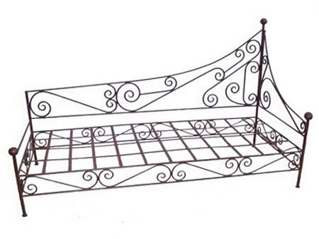 salon banquette canap et fauteuils fer forg sofas forged. Black Bedroom Furniture Sets. Home Design Ideas
