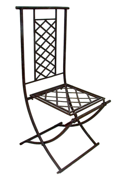 chaise pliante en fer forg. Black Bedroom Furniture Sets. Home Design Ideas