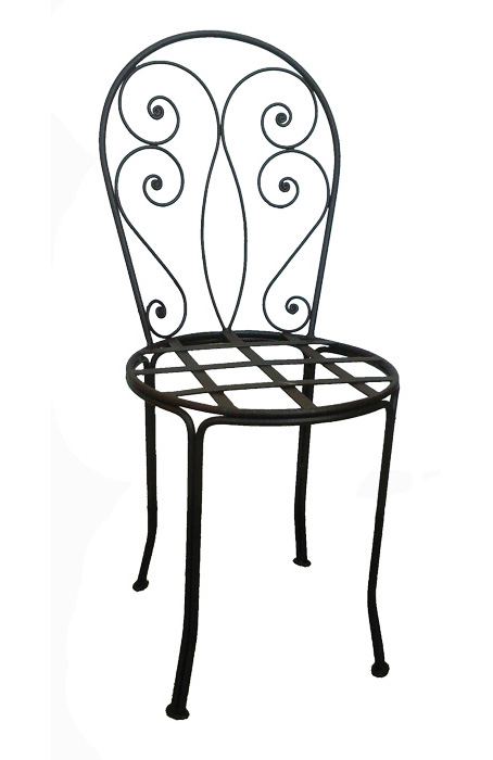 chaises fauteuils tabourets de bar en fer forg. Black Bedroom Furniture Sets. Home Design Ideas