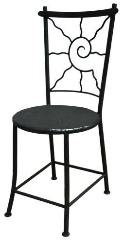 chaise en fer forg soleil assise pleine. Black Bedroom Furniture Sets. Home Design Ideas