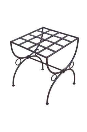 pouf fer forg marina. Black Bedroom Furniture Sets. Home Design Ideas