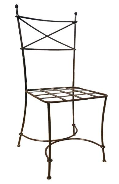 Chaises fauteuils tabourets de bar en fer forg for Chaise de bar fer forge