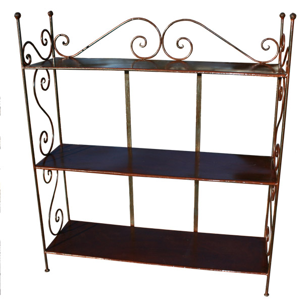 pin etagere en fer forg 4 tablettes on pinterest. Black Bedroom Furniture Sets. Home Design Ideas