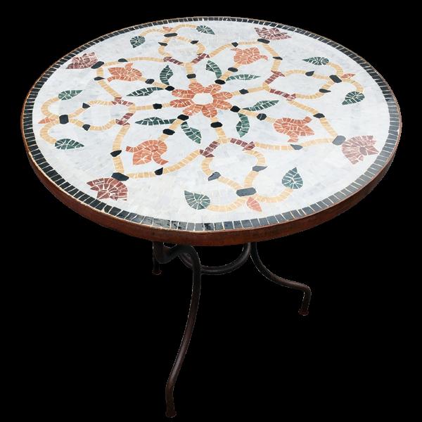 Table Mosa Que De Marbre Sur Pied Simple