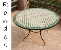 Catégories de Tables en zellige ovales, rondes, rectangulaires ...