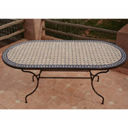 emejing table de jardin mosaique ovale gallery awesome interior home satellite. Black Bedroom Furniture Sets. Home Design Ideas